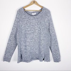 LOFT | Lou and Grey | L | heather gray | sweater